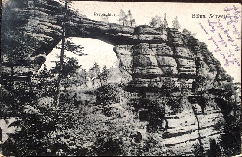 Project Postcard June 1927 Prebischtor Böhmische Schweiz