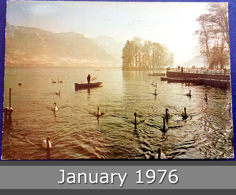 Project Postcard January 1976 Annecy Lake