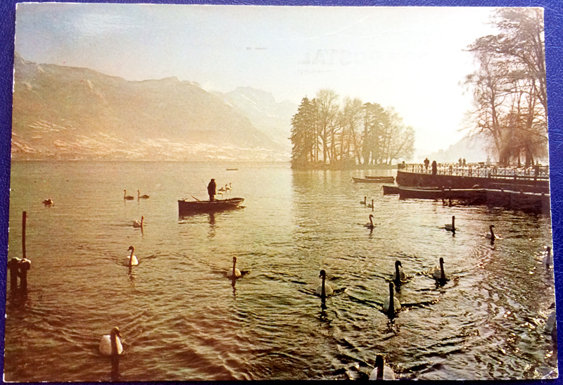 Project Postcard January 1976 Annecy Lake front