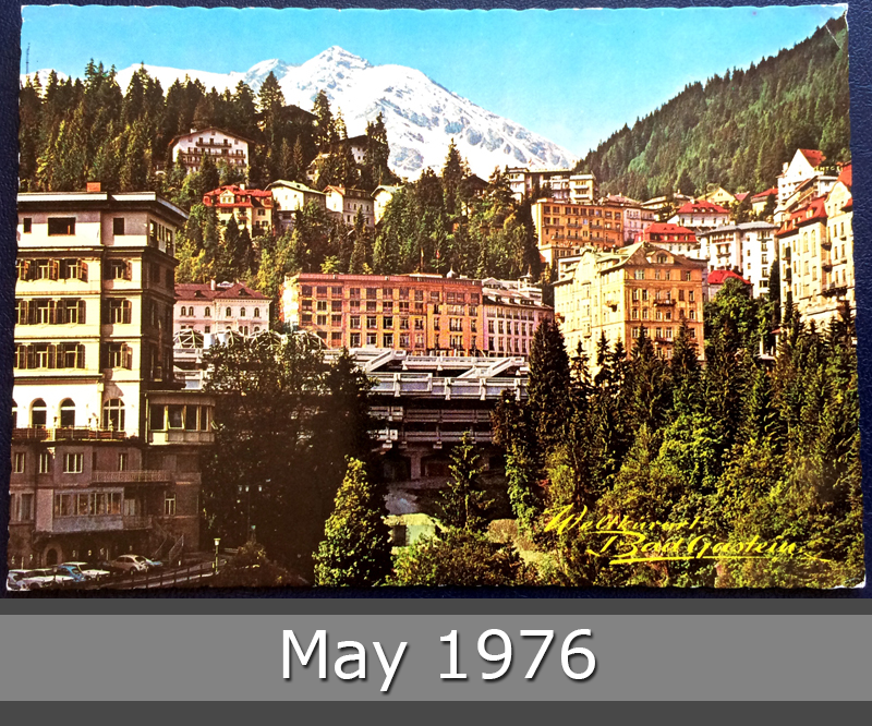Project Postcard May 1976 Badgastein