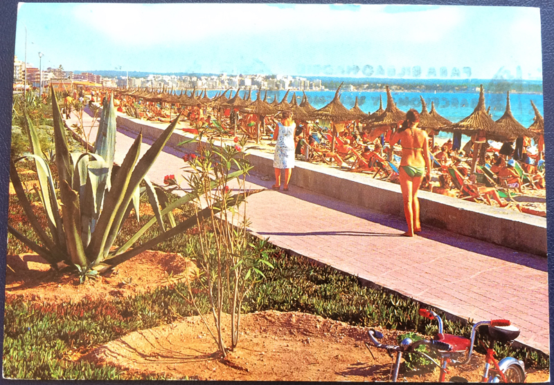 Project Postcard June 1976 El Arenal Mallorca front