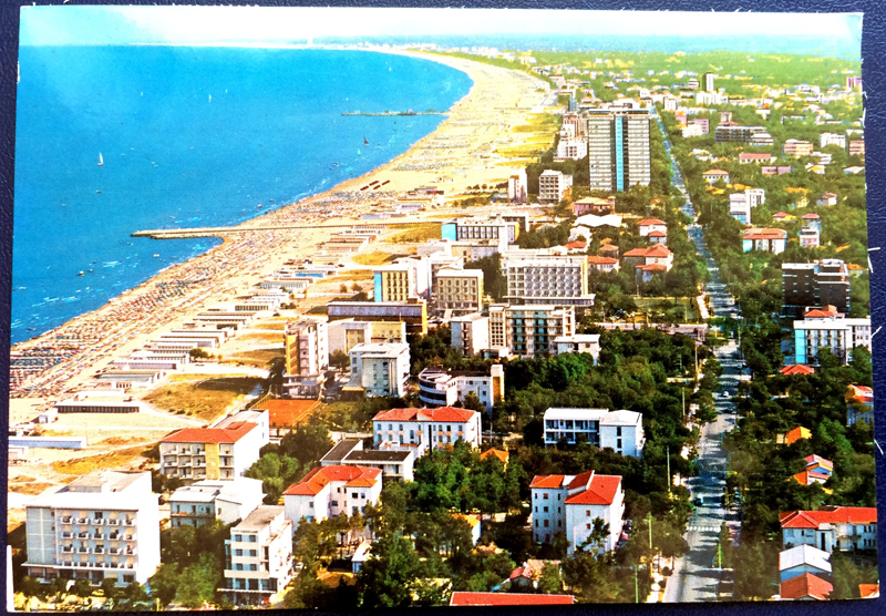 Project Postcard May 1977 Milano Marittima Cervia front