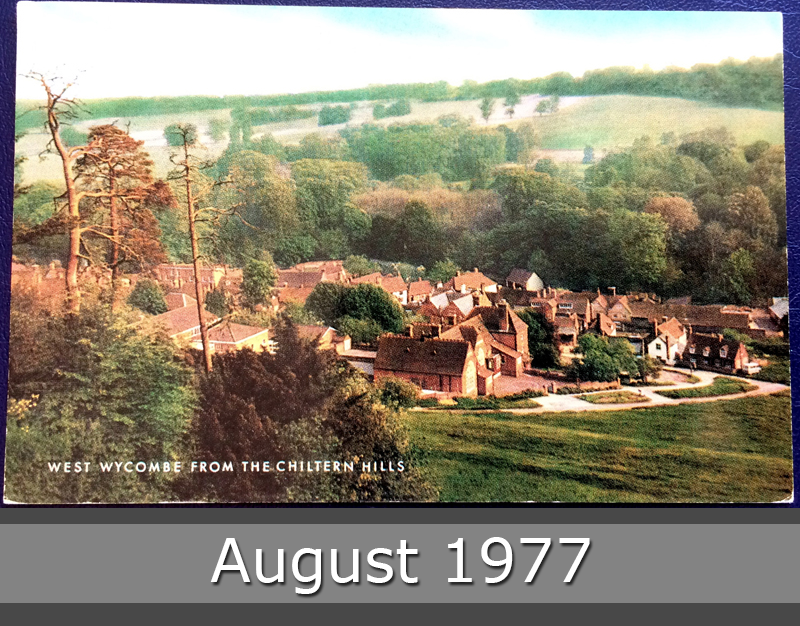 Project Postcard August 1977 West Wycombe from the Chiltern Hills