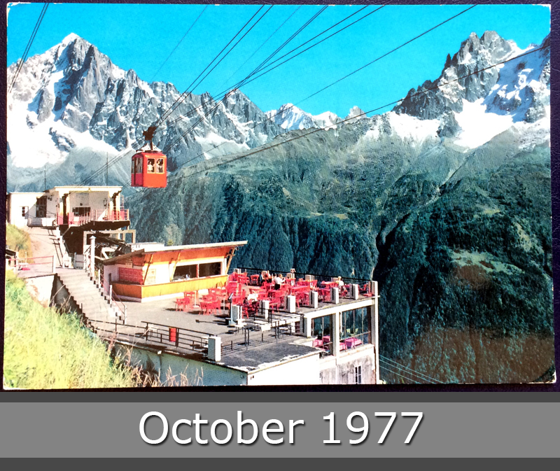 Project Postcard October 1977 Chamonix Mont Blanc