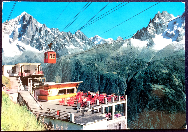 Project Postcard October 1977 Chamonix Mont Blanc front