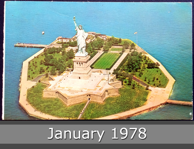 Project Postcard January 1978 Statue of Liberty New York Harbor