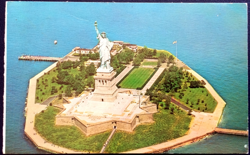 Project Postcard January 1978 Statue of Liberty New York Harbor front