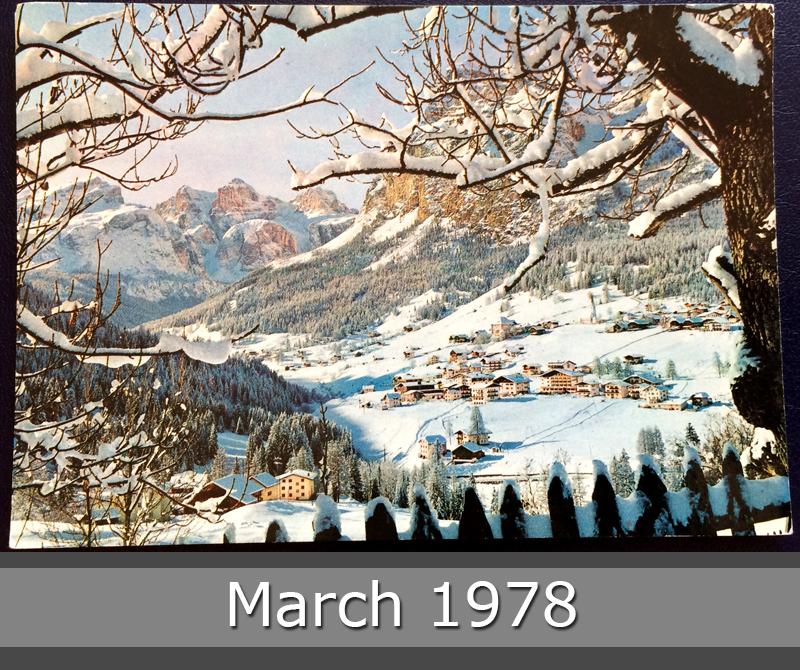 Project Postcard March 1978 Winter in La Villa Alta Val Badia