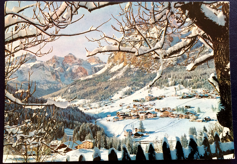 Project Postcard March 1978 Winter in La Villa Alta Val Badia front