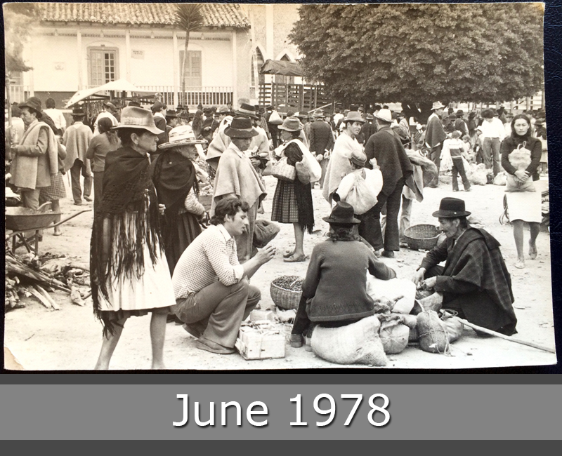 Project Postcard June 1978 people on a market in Colombia