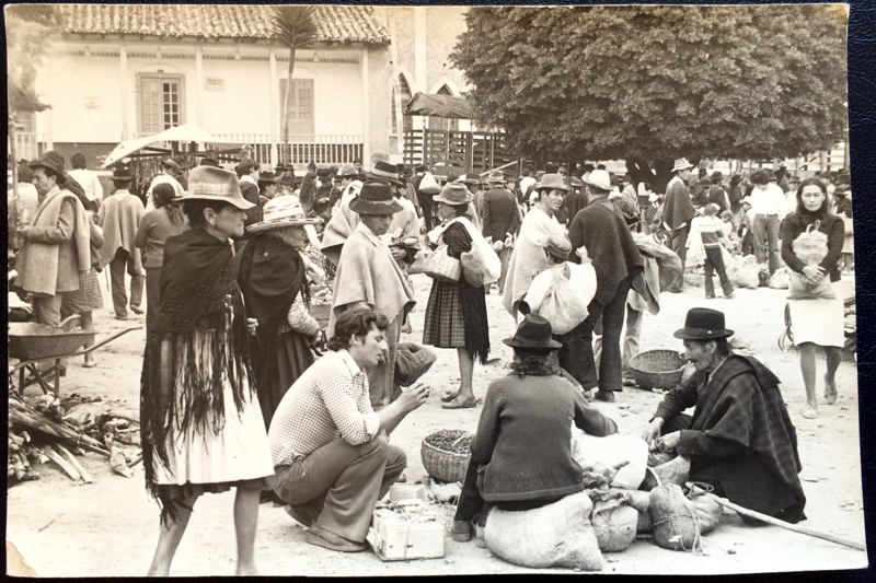 Project Postcard June 1978 people on a market in Colombia front