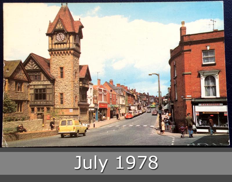 Project Postcard July 1978 High Street Ledbury
