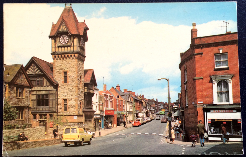 Project Postcard July 1978 High Street Ledbury front