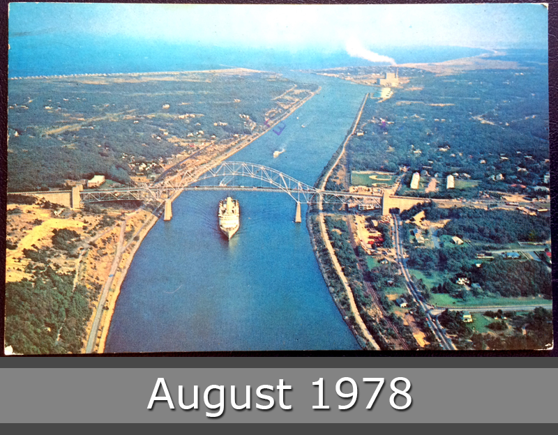 Project Postcard August 1978 Cape Cod The Sagamore Bridge and Cape Cod Canal