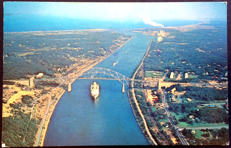 Project Postcard August 1978 Cape Cod The Sagamore Bridge and Cape Cod Canal front
