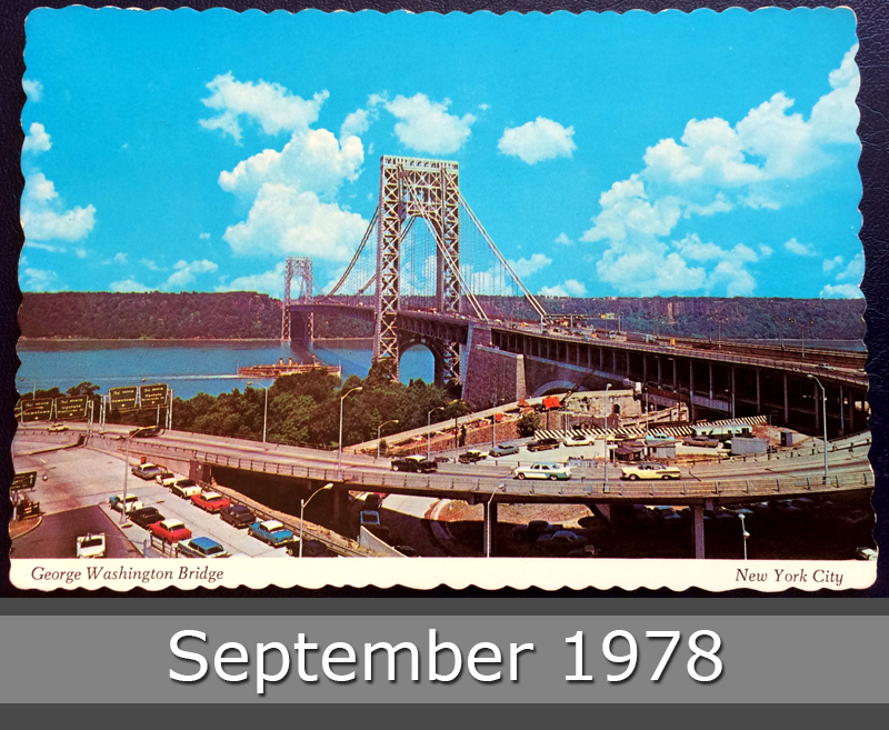 Project Postcard September 1978 George Washington Bridge New York City