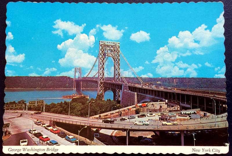 Project Postcard September 1978 George Washington Bridge New York City front
