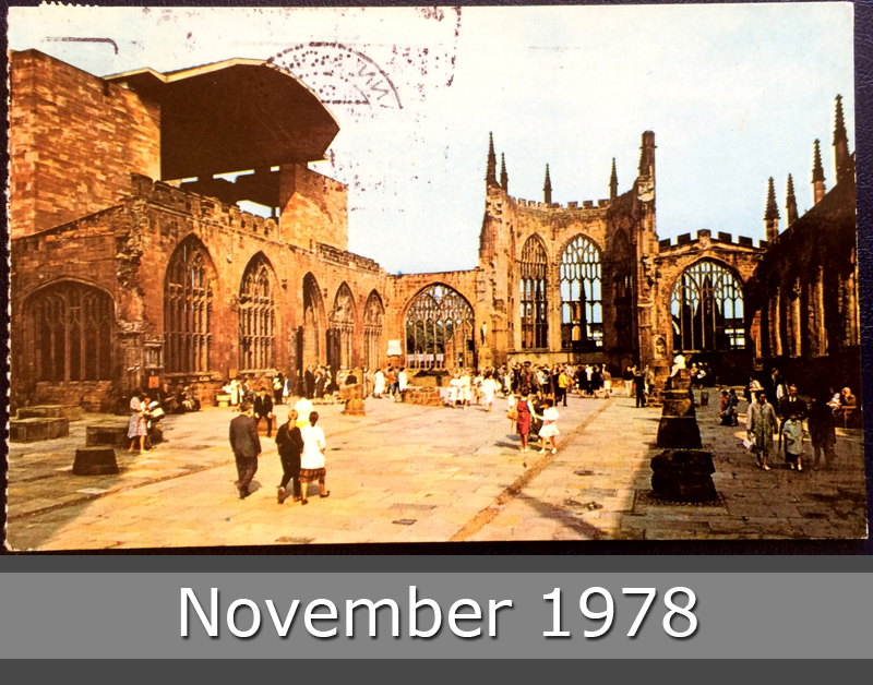 Project Postcard November 1978 Coventry Cathedral