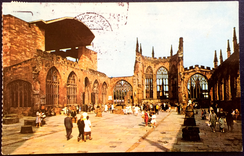Project Postcard November 1978 Coventry Cathedral front