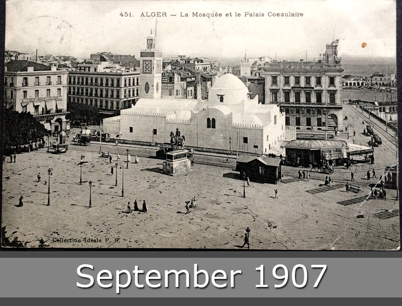 Project Postcard September 1907 - Algiers Mosque and Consular Palace front