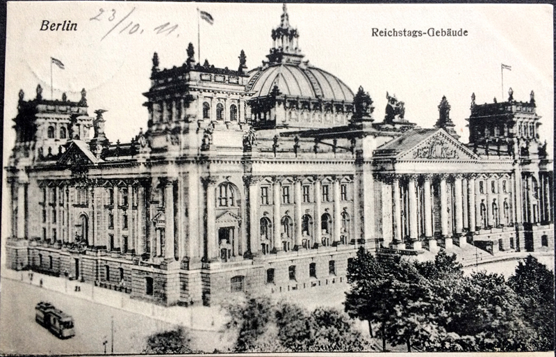 Project Postcard October 1911 - Berlin Germany Reichstags Building