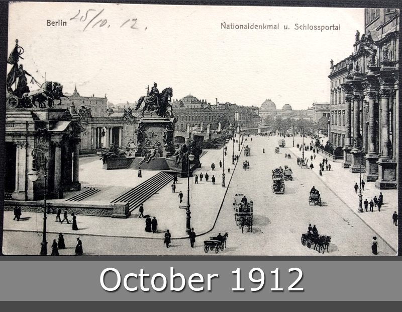 Project Postcard October 1912 - Berlin Germany Castle Entrance front