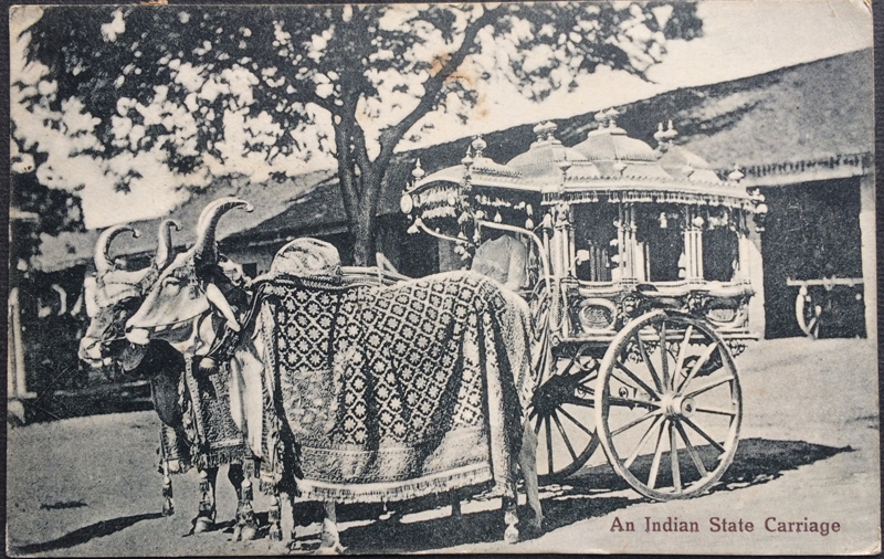 Project Postcard March 1926 - Indian State Carriage