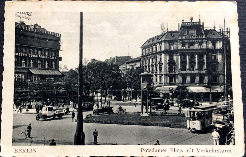 Project Postcard July 1947 - Berlin Germany Potsdamer Platz with traffic tower