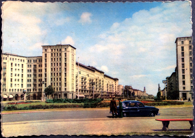 Project Postcard June 1963 - East-Berlin GDR Karl-Marx-Allee and police men