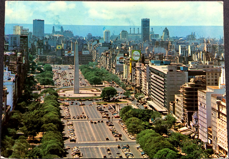 Project Postcard March 1974 - Buenos Aires Argentina Avenue July 9