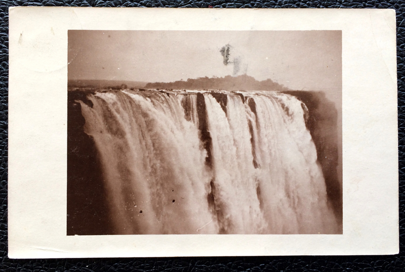 Project Postcard February 1911 - waterfalls Rhodesia