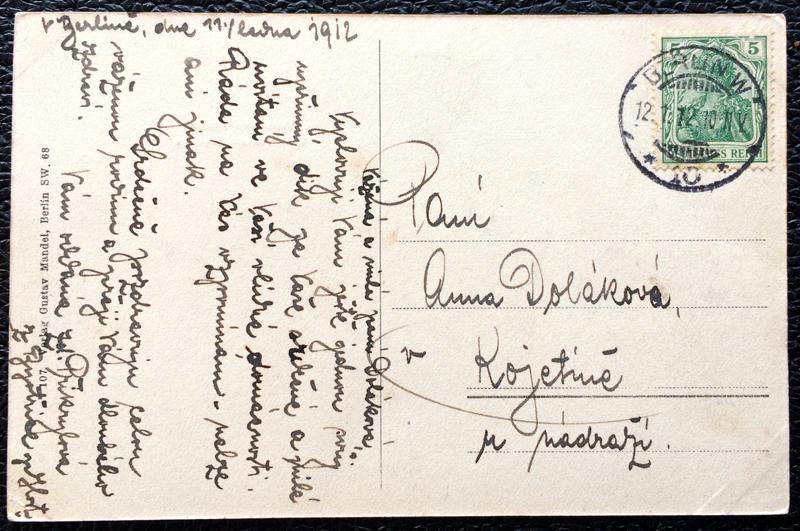 Project Postcard January 1912 - Berlin Germany Unter den Linden Ecke Friedrichstraße back
