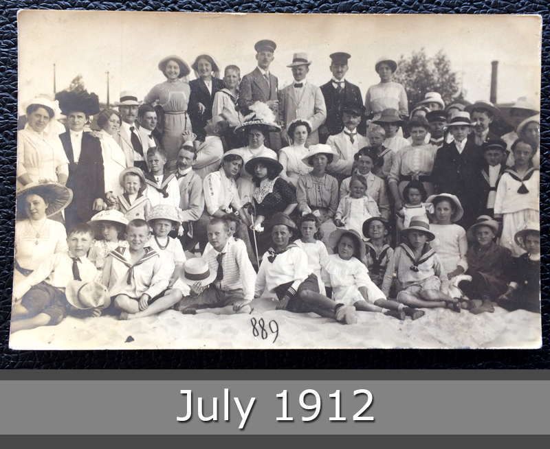 Project Postcard July 1912 - people on the beach front