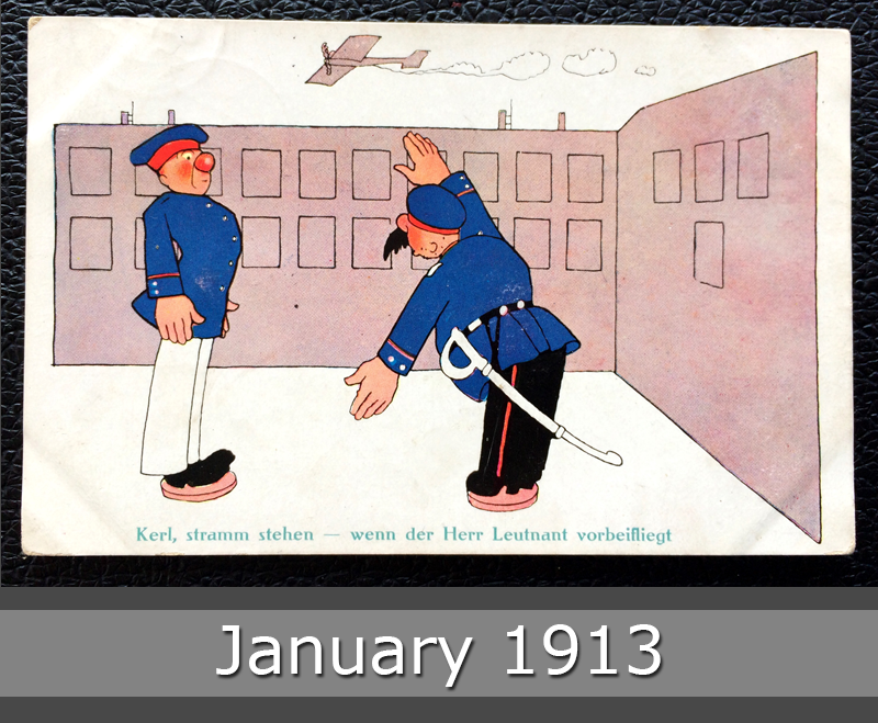 Project Postcard January 1913 - German soldiers fun card front