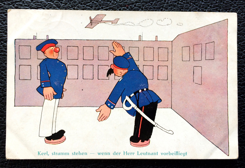 Project Postcard January 1913 - German soldiers fun card