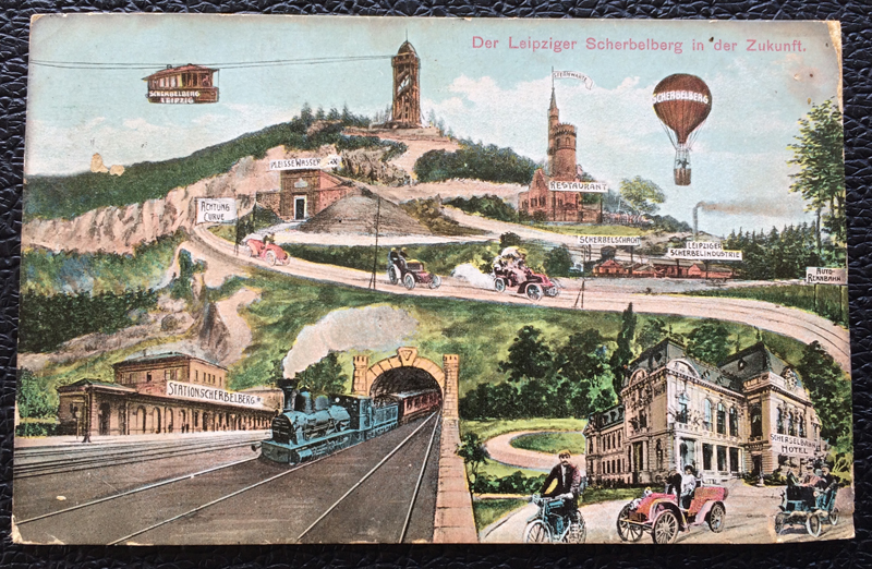 Project Postcard June 1913 - Leipzig Germany future of the Scherbelberg