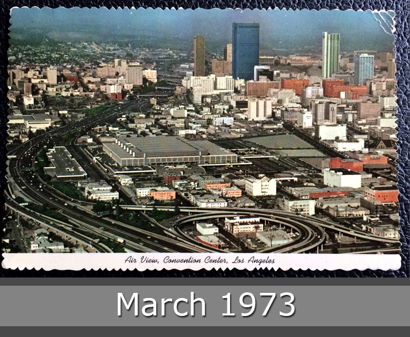 Project Postcard March 1973 - Convention Center in Los Angeles USA front