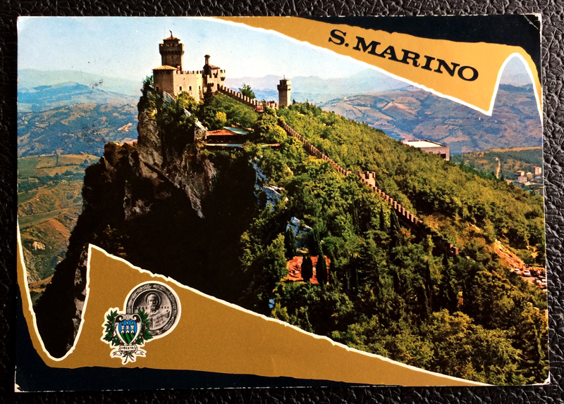 Project Postcard July 1974 - San Marino Castle