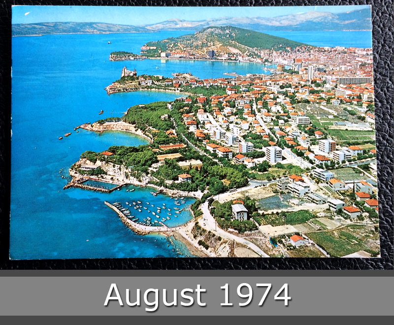 Project Postcard August 1974 - Split Croatia Yugoslavia front
