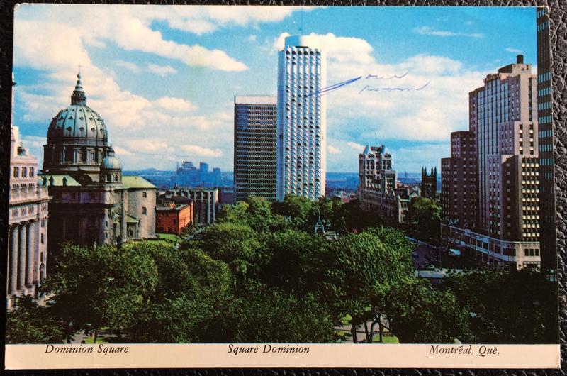 Project Postcard September 1974 - Dominion Square Montréal Canada