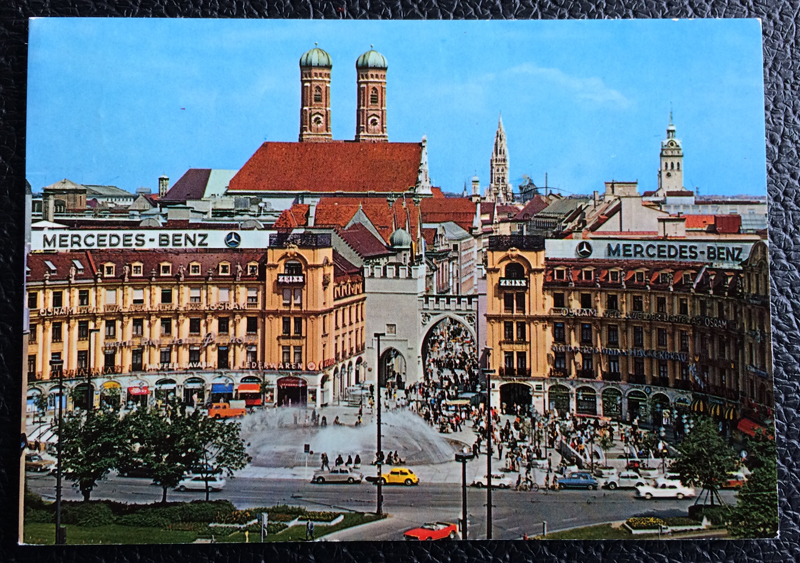 Project Postcard October 1974 - Munich Bavaria Karlsplatz Stachus