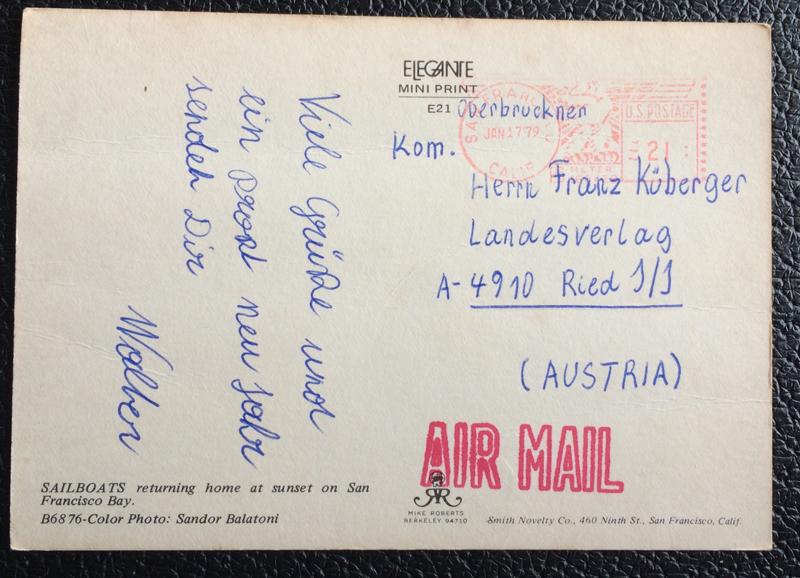 Project Postcard January 1979 - Golden Gate Bridge San Francisco California USA back