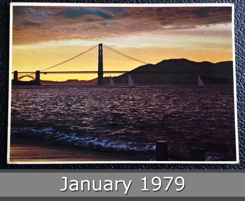 Project Postcard January 1979 - Golden Gate Bridge San Francisco California USA front