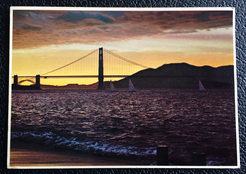 Project Postcard January 1979 - Golden Gate Bridge San Francisco California USA