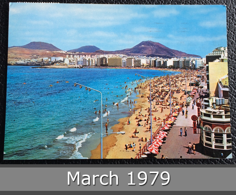 Project Postcard March 1979 - Las Palmas Canary Islands Spain front