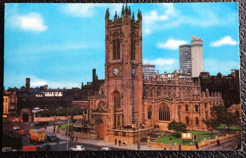 Project Postcard June 1979 - The Cathedral of Manchester UK Great Britain