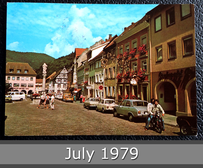 Project Postcard July 1979 - Waldkirch in Schwarzwald Germany front