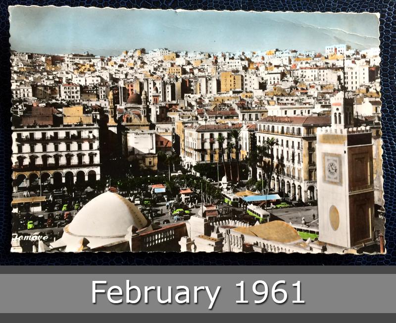 Project Postcard February 1961 - Algiers Algeria La Casbah front
