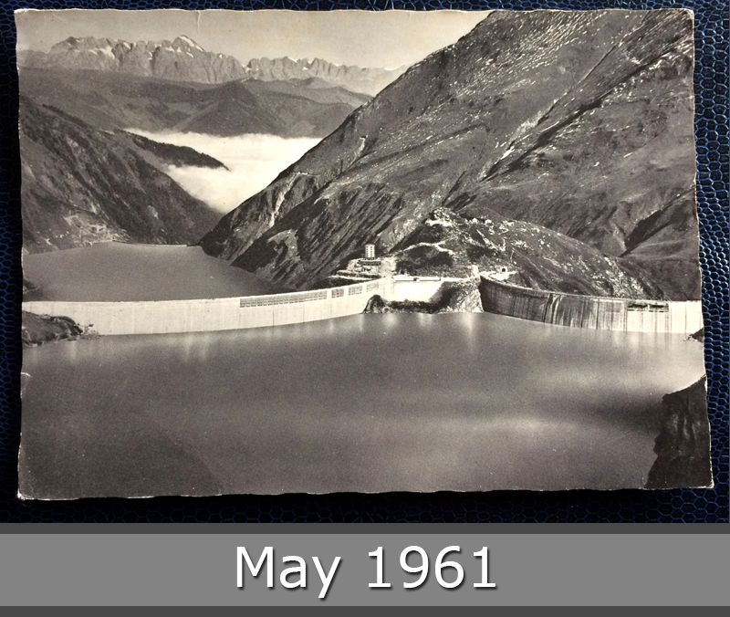 Project Postcard March 1961 - Kaprun reservoir in Austria front
