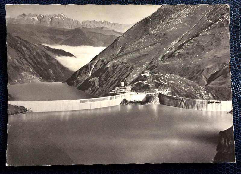 Project Postcard March 1961 - Kaprun reservoir in Austria